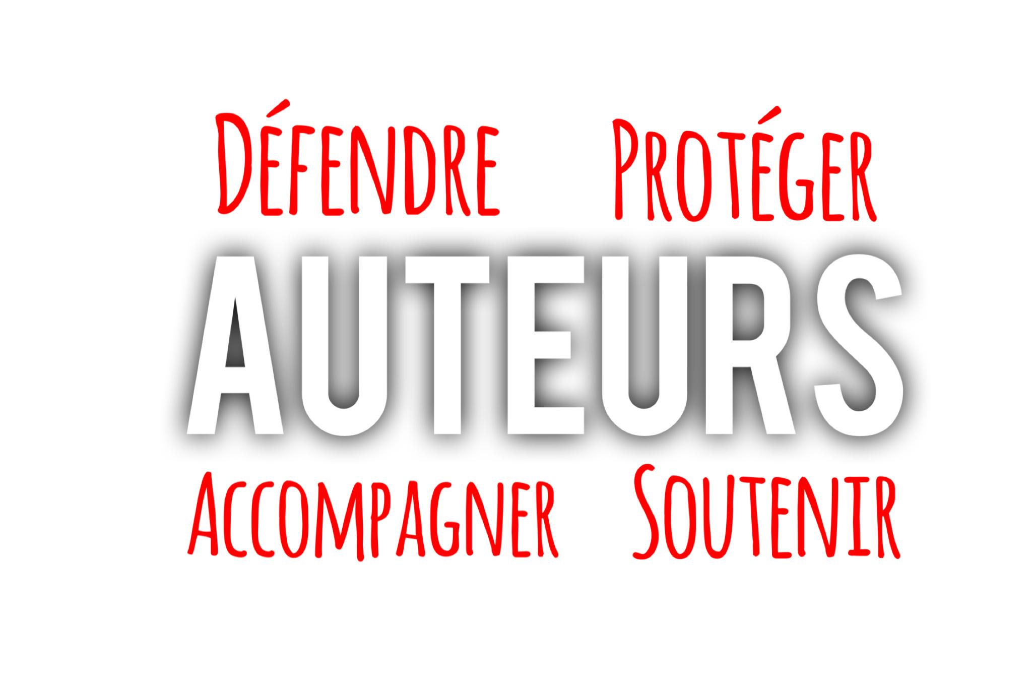Image défendre protéger accompagner et soutenir les auteurs