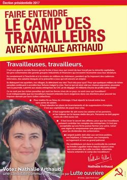 Affiche de campagne Nathalie Arthaud