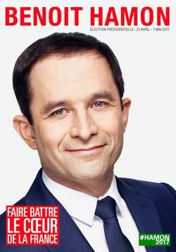 Affiche de campagne Benoit Hamon