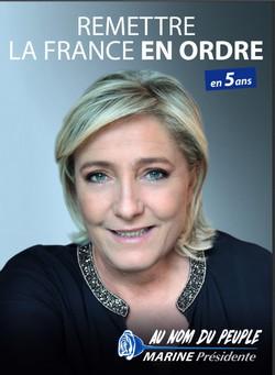 Affiche de campagne Marine Le Pen