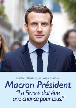 Affiche de campagne Emmanuel Macron