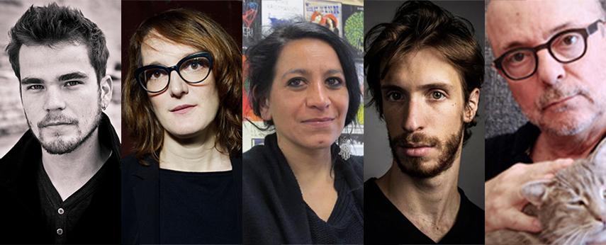 De gauche à droite : Baptiste Amann, Marion Boudier, Dalila Boitaud, Hugues Duchêne, Enzo Cormann